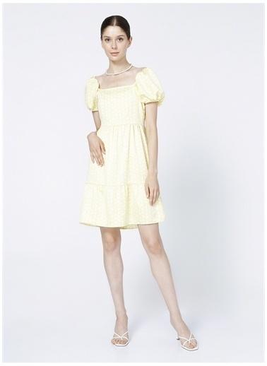 North Of Navy Elbise Sarı